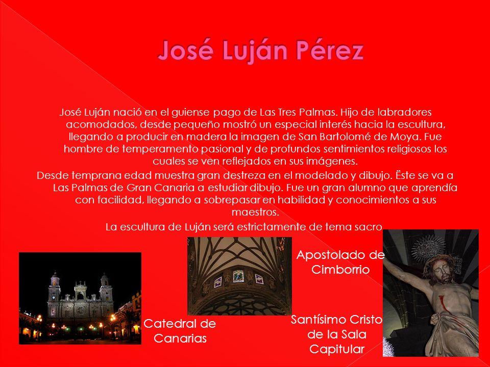 José Luján Pérez Apostolado de Cimborrio