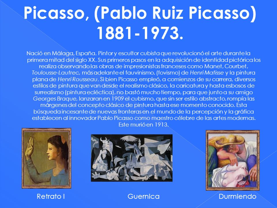 Picasso, (Pablo Ruiz Picasso) 1881-1973.