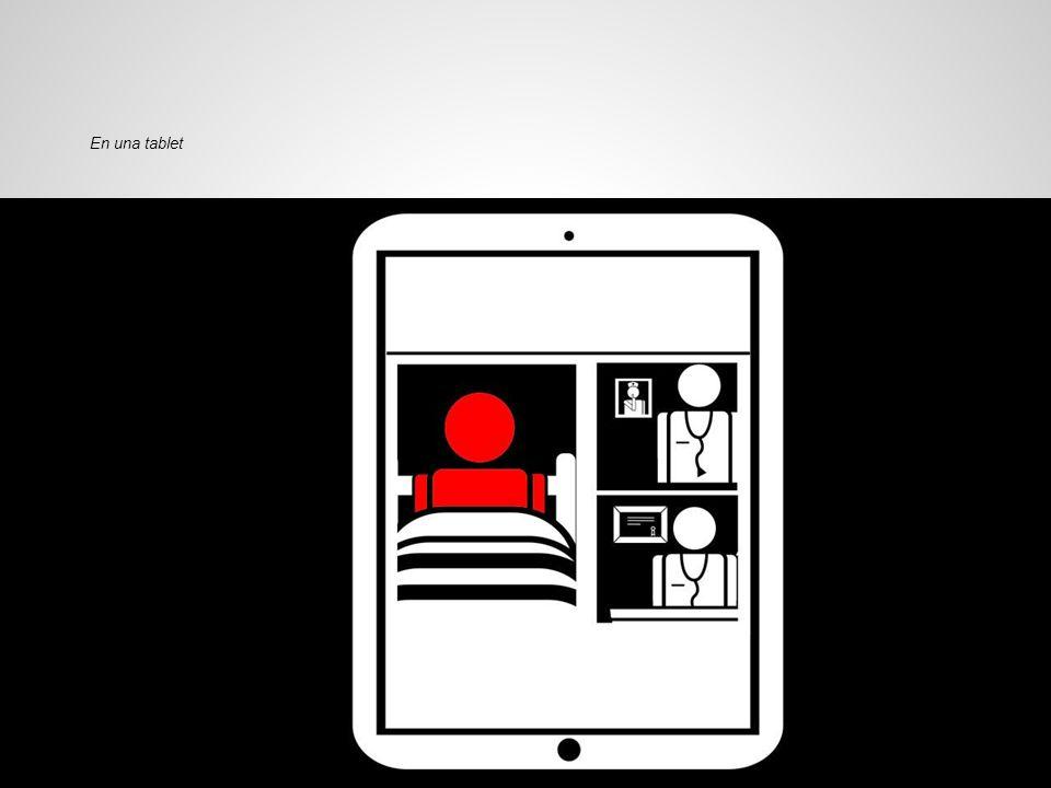 En una tablet La pantalla se adapta a una tablet...