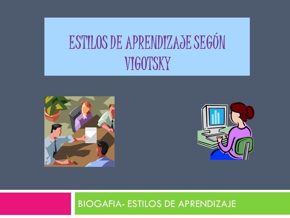 Estilos de aprendizaje según Vigotsky