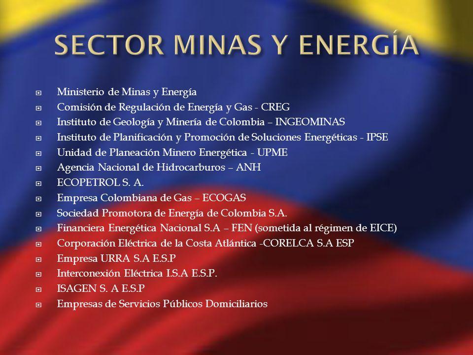 SECTOR MINAS Y ENERGÍA Ministerio de Minas y Energía