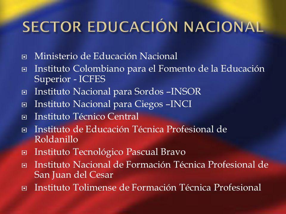 SECTOR EDUCACIÓN NACIONAL