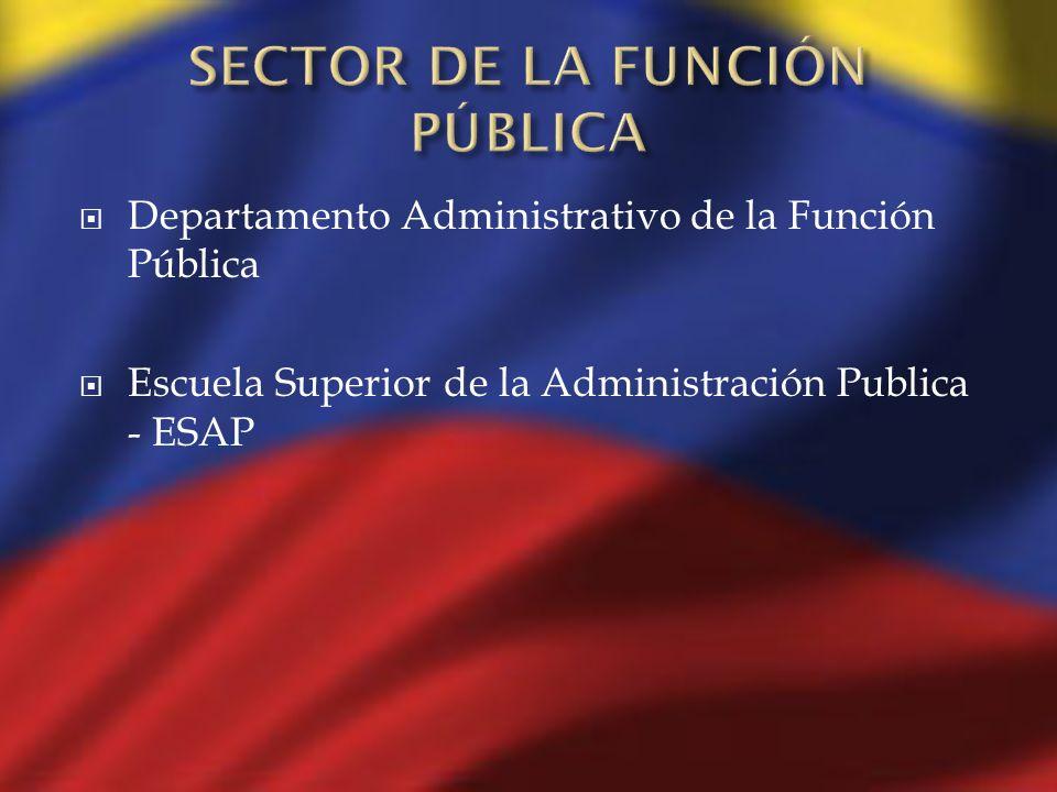 SECTOR DE LA FUNCIÓN PÚBLICA