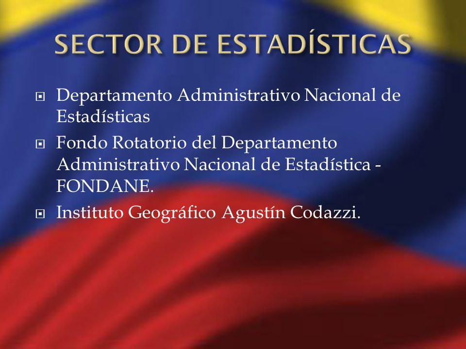 SECTOR DE ESTADÍSTICAS