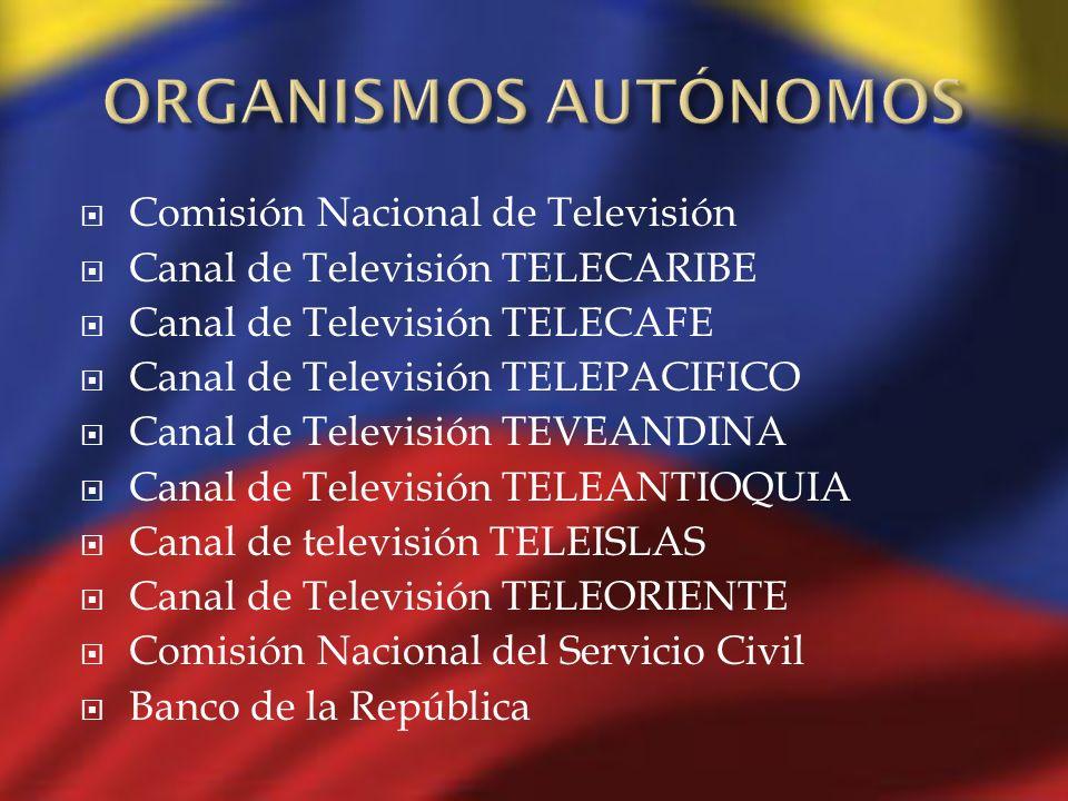 ORGANISMOS AUTÓNOMOS Comisión Nacional de Televisión