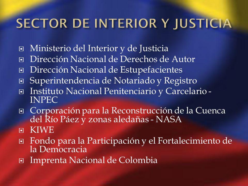 SECTOR DE INTERIOR Y JUSTICIA