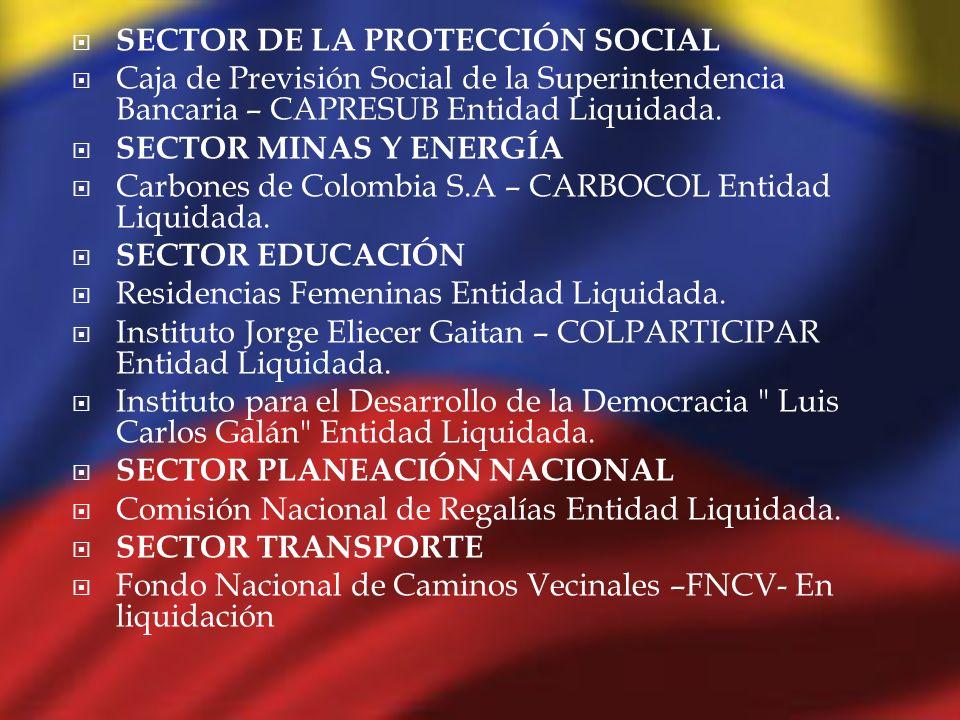 SECTOR DE LA PROTECCIÓN SOCIAL