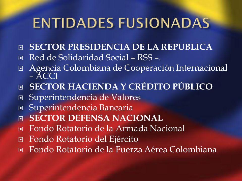 ENTIDADES FUSIONADAS SECTOR PRESIDENCIA DE LA REPUBLICA