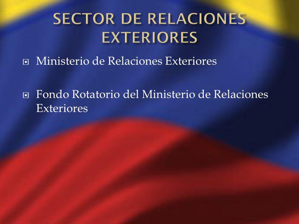 SECTOR DE RELACIONES EXTERIORES
