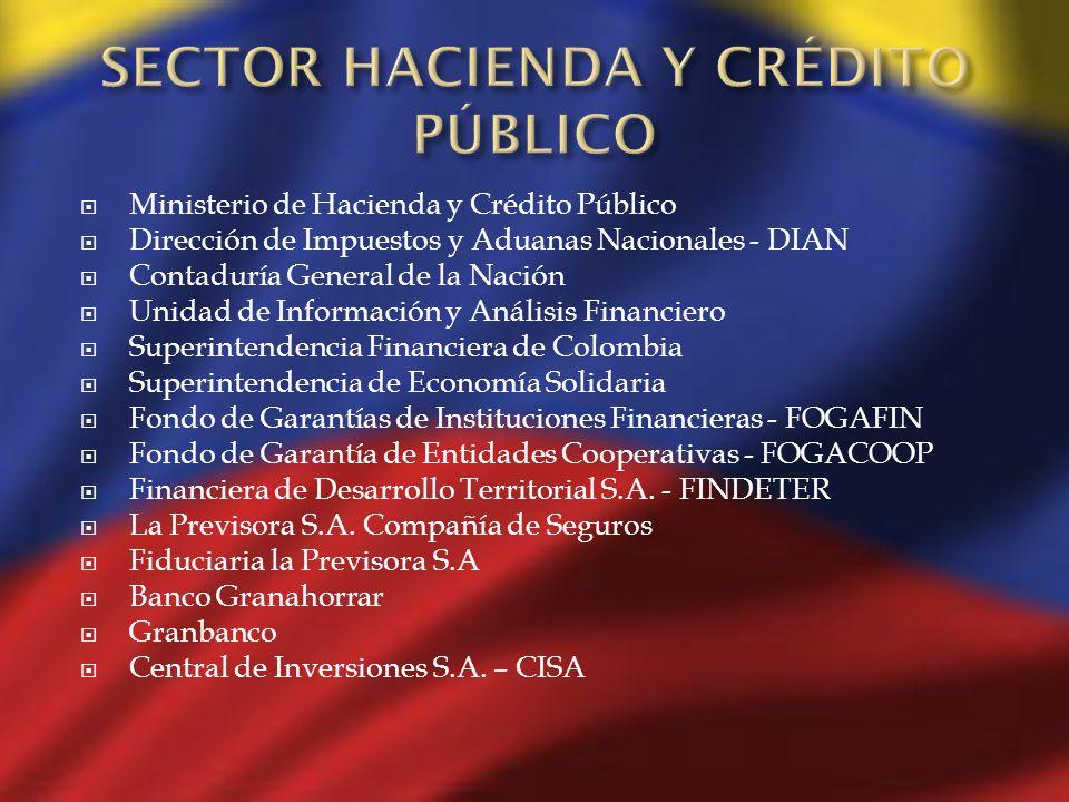 SECTOR HACIENDA Y CRÉDITO PÚBLICO