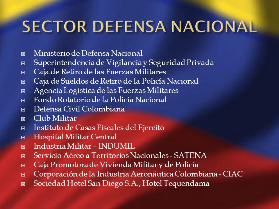 SECTOR DEFENSA NACIONAL