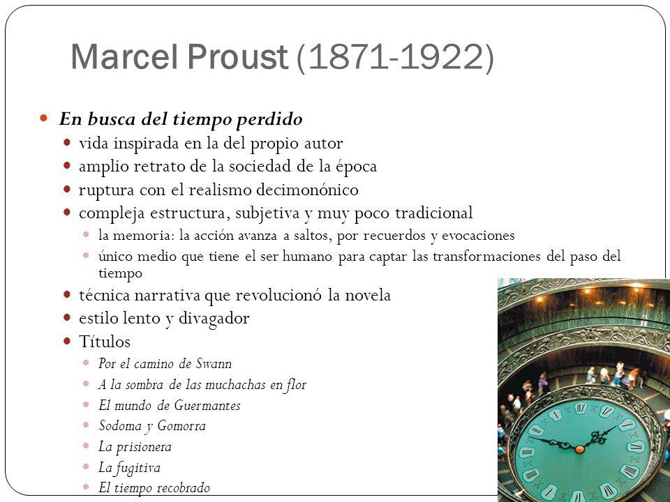 Marcel Proust (1871-1922) En busca del tiempo perdido