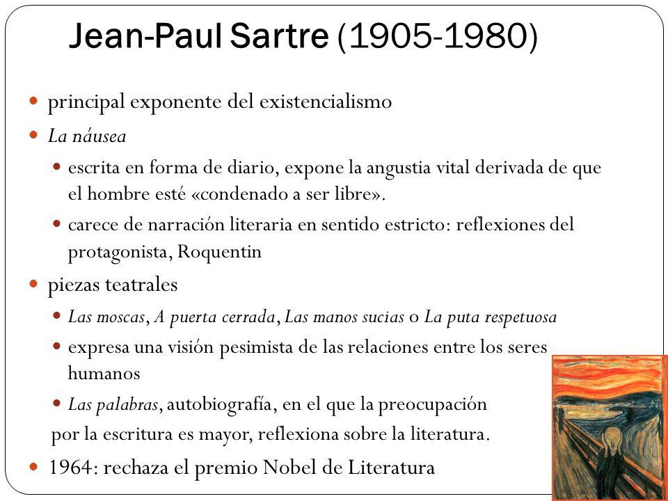 Jean-Paul Sartre (1905-1980) principal exponente del existencialismo