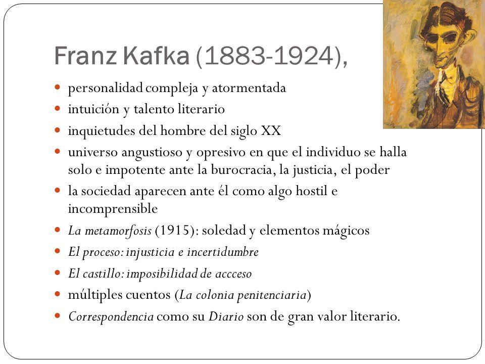 Franz Kafka (1883-1924), personalidad compleja y atormentada