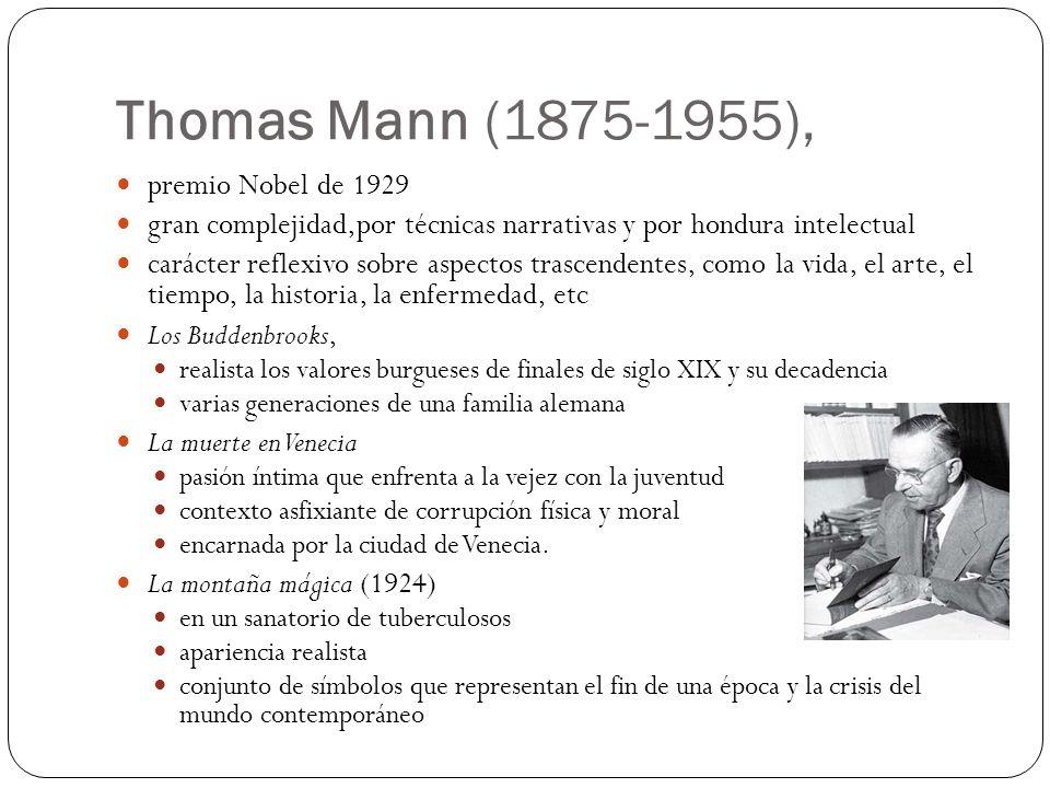 Thomas Mann (1875-1955), premio Nobel de 1929
