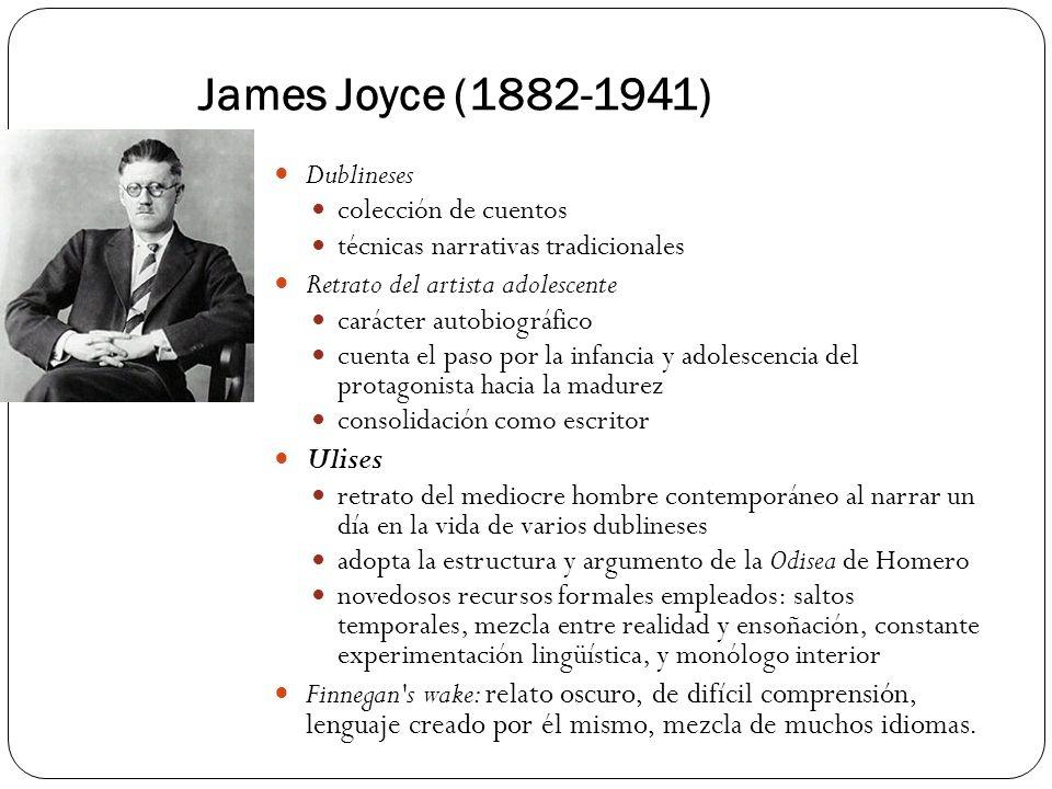 James Joyce (1882-1941) Dublineses Retrato del artista adolescente