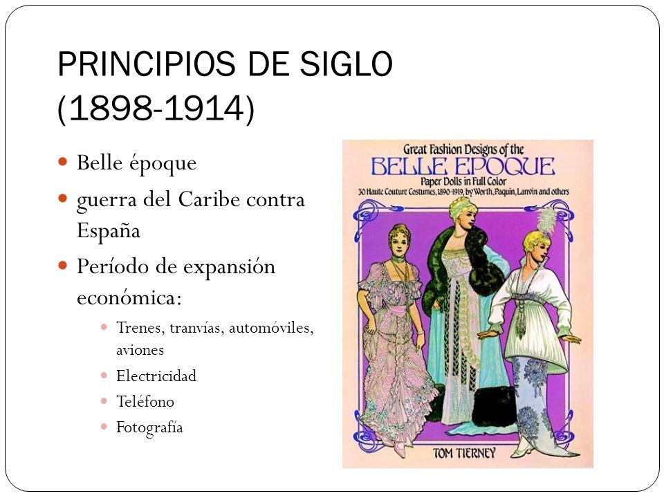PRINCIPIOS DE SIGLO (1898-1914)