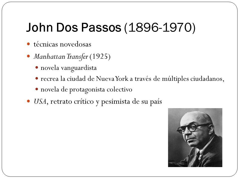John Dos Passos (1896-1970) técnicas novedosas