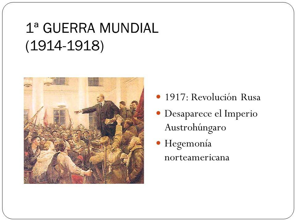 1ª GUERRA MUNDIAL (1914-1918) 1917: Revolución Rusa