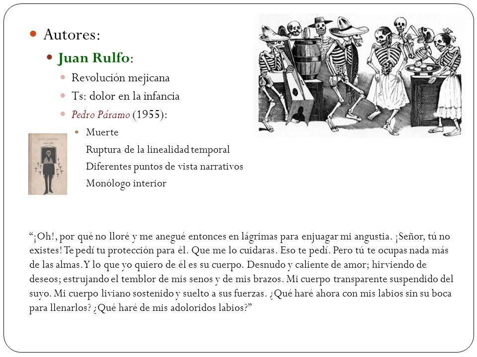 Autores: Juan Rulfo: Revolución mejicana Ts: dolor en la infancia