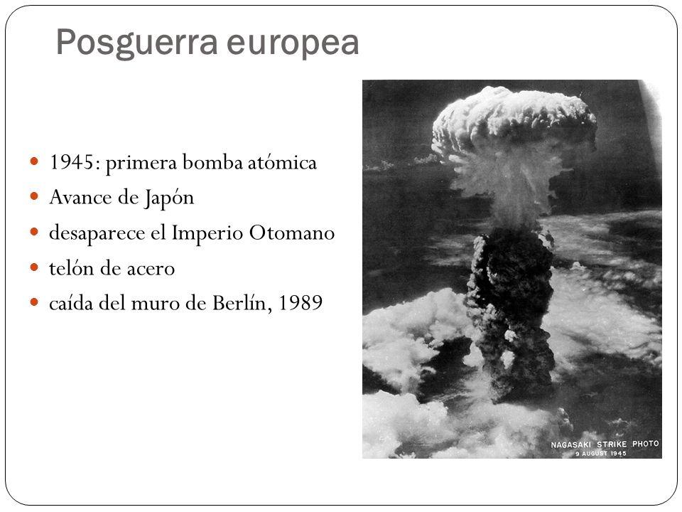 Posguerra europea 1945: primera bomba atómica Avance de Japón