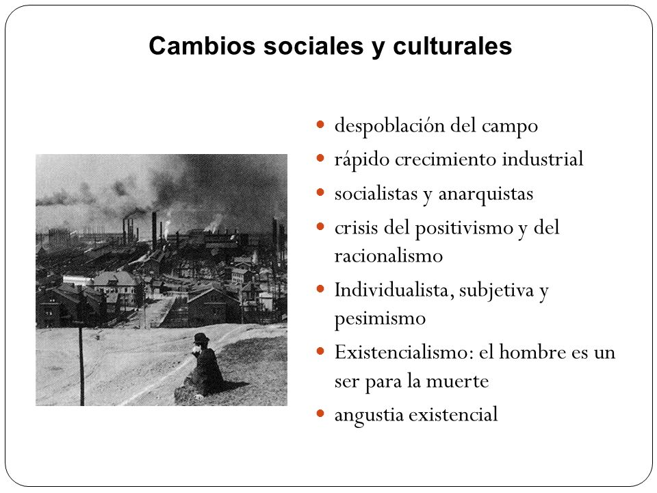 Cambios sociales y culturales