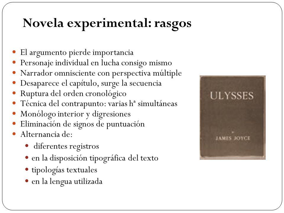 Novela experimental: rasgos