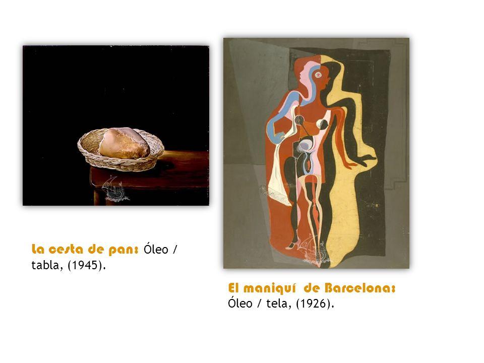 La cesta de pan: Óleo / tabla, (1945).