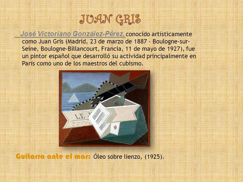 JUAN GRIS Guitarra ante el mar: Óleo sobre lienzo, (1925).