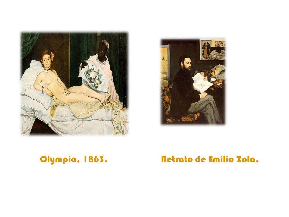 Olympia, 1863. Retrato de Emilio Zola.