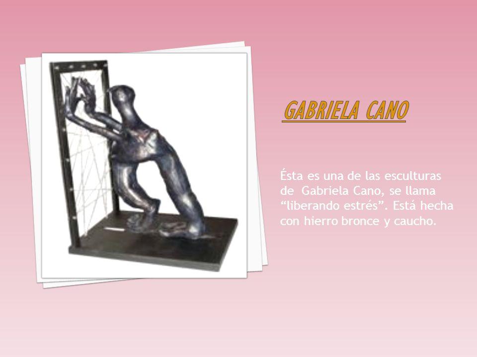 Gabriela cano Ésta es una de las esculturas de Gabriela Cano, se llama liberando estrés .