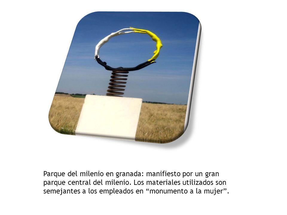 Parque del milenio en granada: manifiesto por un gran parque central del milenio. Los materiales utilizados son semejantes a los empleados en monumento a la mujer .