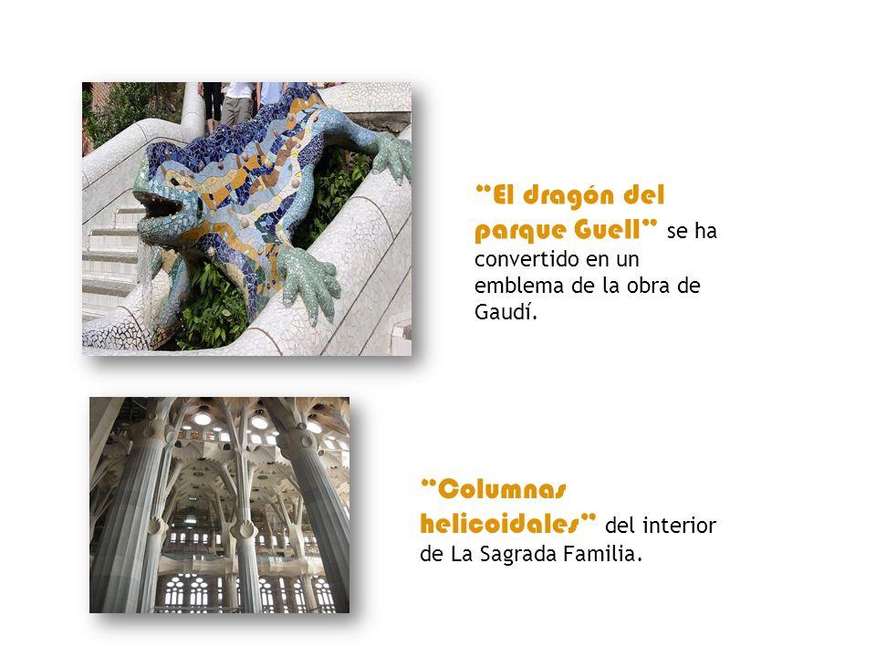 El dragón del parque Guell se ha convertido en un emblema de la obra de Gaudí.