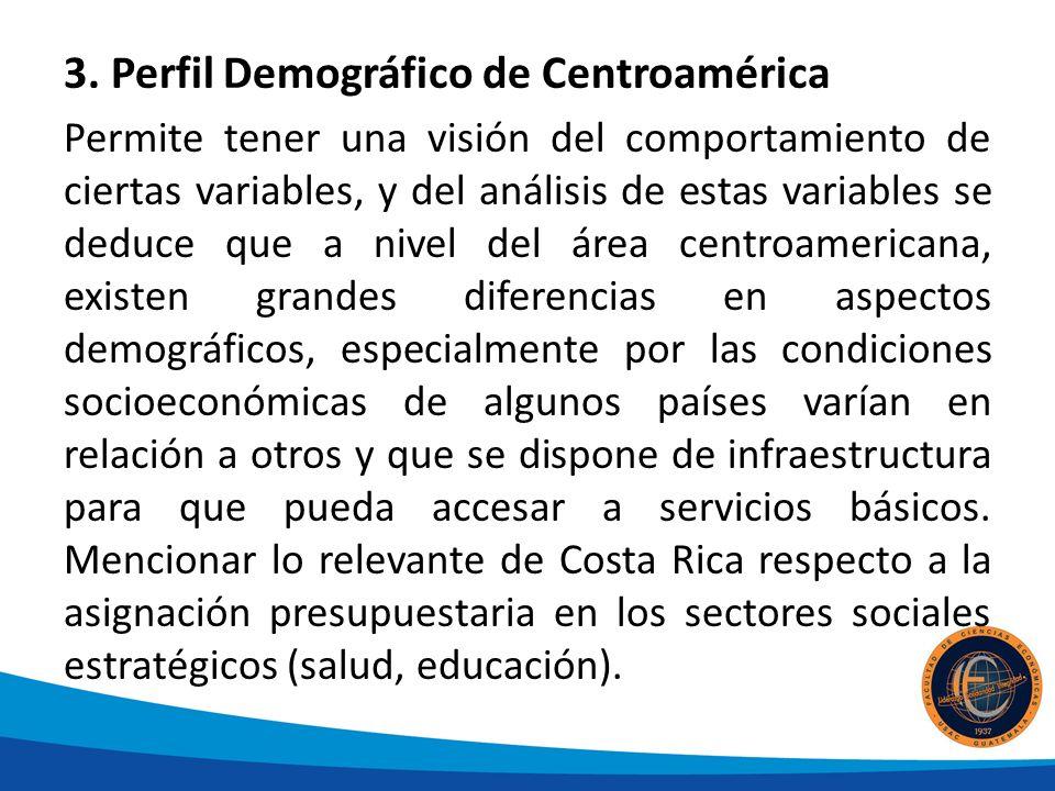 3. Perfil Demográfico de Centroamérica