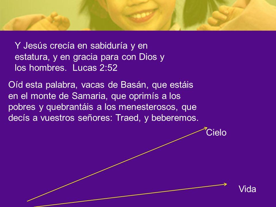 Y Jesús crecía en sabiduría y en estatura, y en gracia para con Dios y los hombres. Lucas 2:52