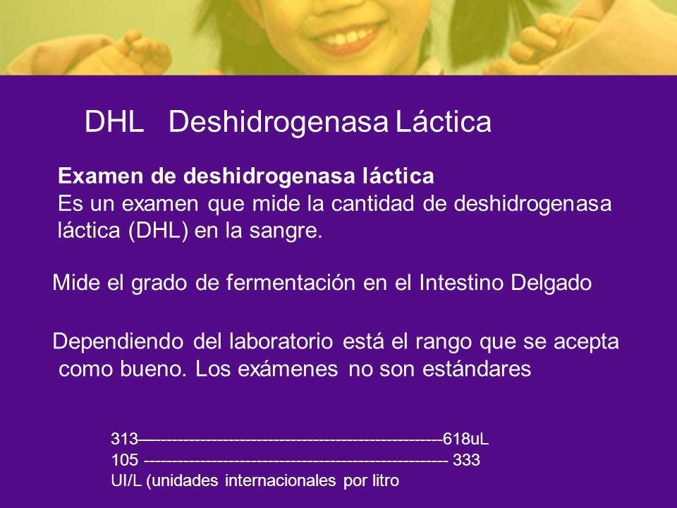 DHL Deshidrogenasa Láctica