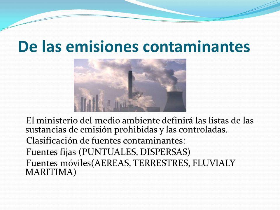 De las emisiones contaminantes