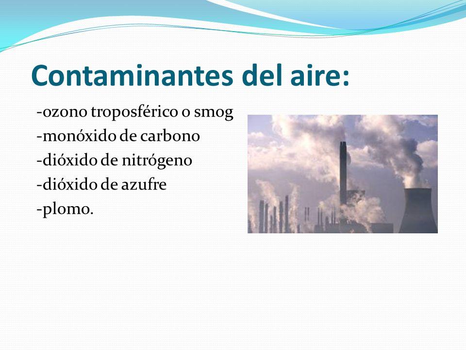 Contaminantes del aire: