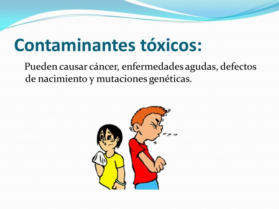 Contaminantes tóxicos: