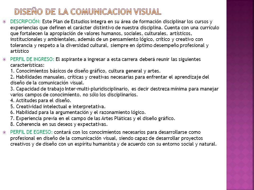 DISEÑO DE LA COMUNICACION VISUAL
