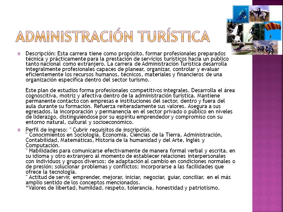 Administración turística