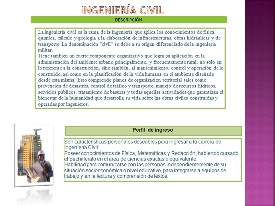INGENIERÍA CIVIL DESCRIPCIÒN
