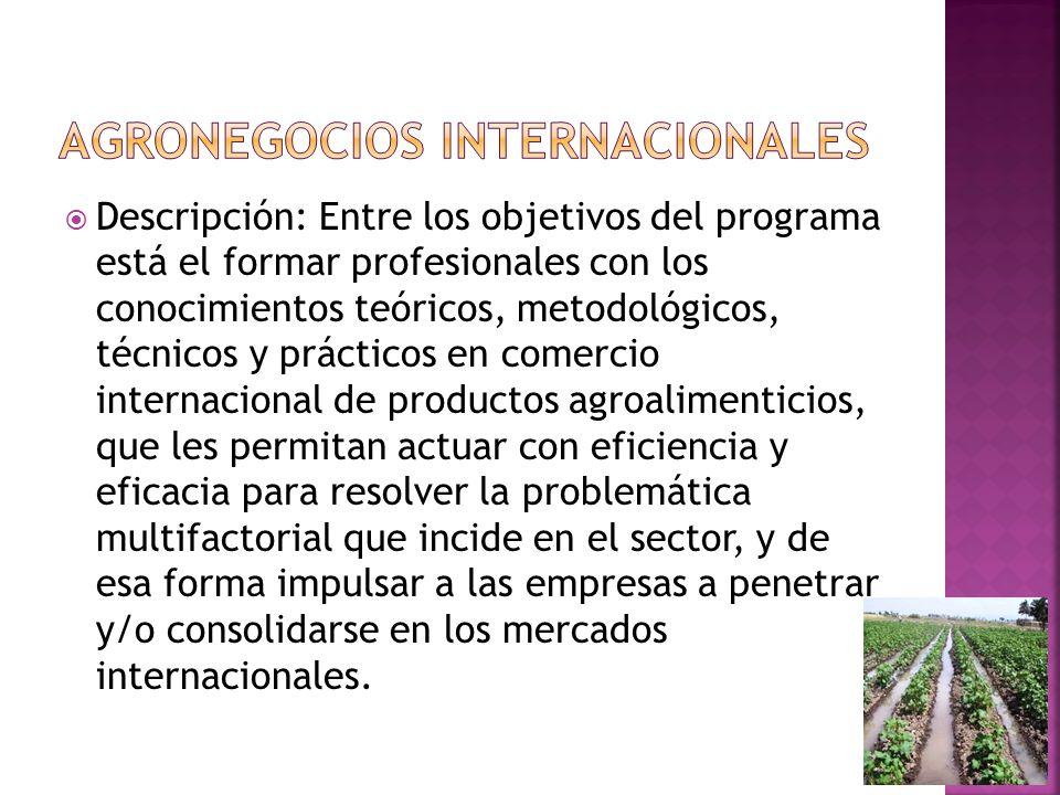 Agronegocios internacionales