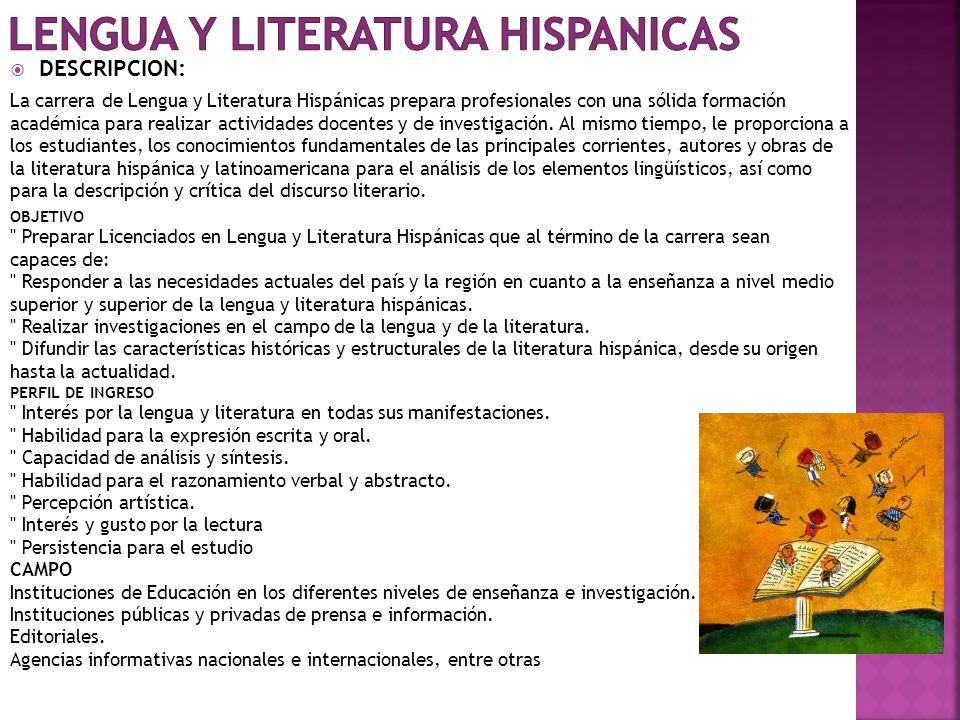 LENGUA Y LITERATURA HISPANICAS
