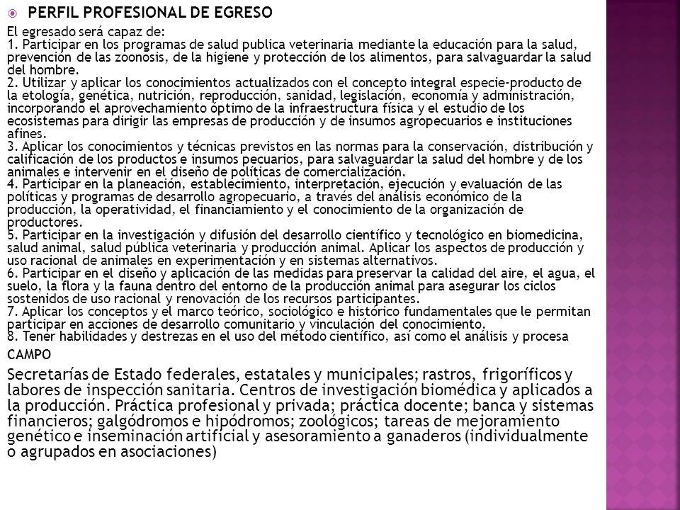 PERFIL PROFESIONAL DE EGRESO