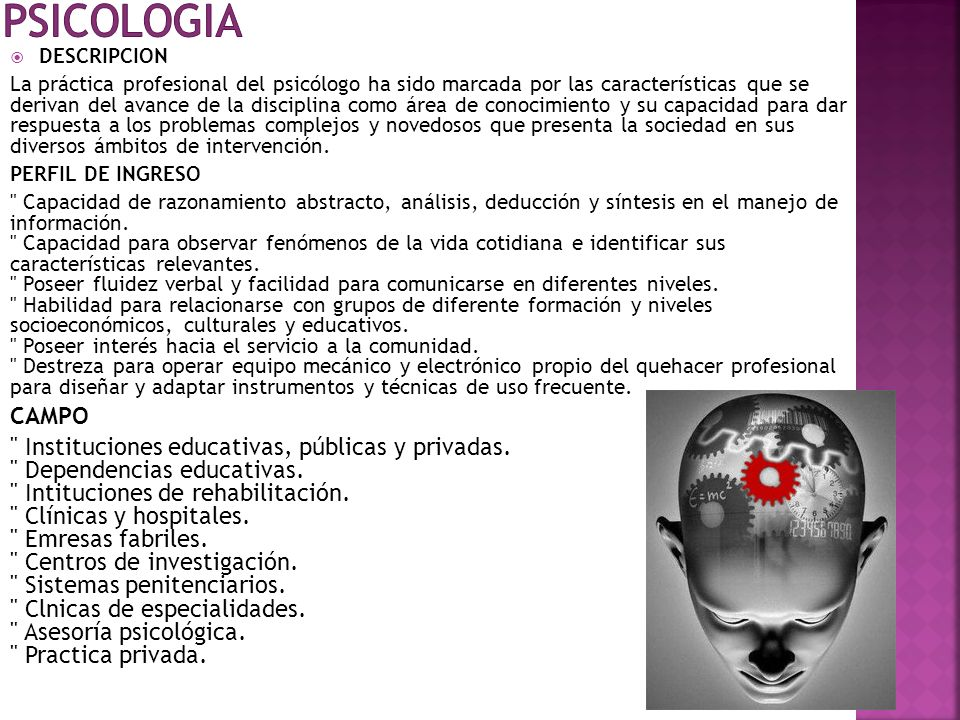 PSICOLOGIA DESCRIPCION.