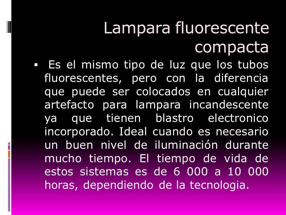 Lampara fluorescente compacta