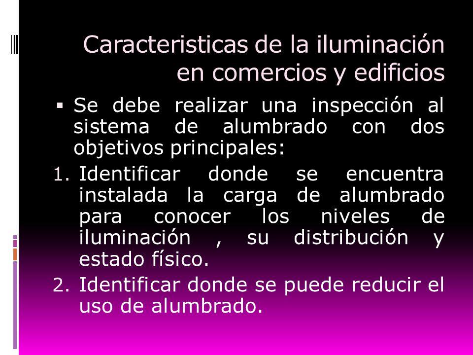 Caracteristicas de la iluminación en comercios y edificios