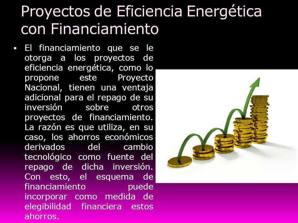 Proyectos de Eficiencia Energética con Financiamiento