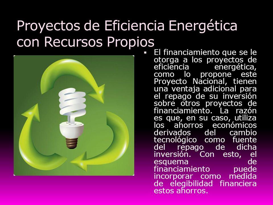 Proyectos de Eficiencia Energética con Recursos Propios